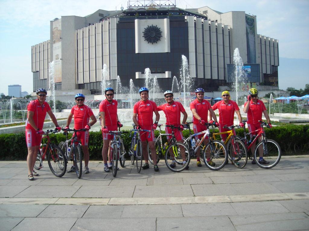 la partenza del tour a sofia